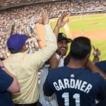NYU Langone Health photo: Corporate Services enjoying a Yankee game in appreciation of their hard work.