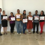 Peace Corps photo: My second group of graduated health promoters that I trained in the community.