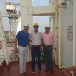 Inspecting the loading of Project cargo for 1X150MW Sihanoukville Power Project for Cambodia