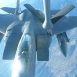 Hooking up with an F-15C doing combat training.