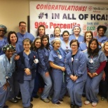 Our Same-Day Surgery Team finding out that they are #1 in HCA!