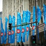 BMO Financial Group photo: BMO banners front and center.