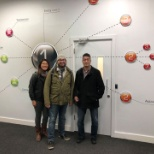 Some of the Toronto staff visiting the new Dublin office.