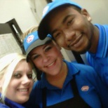 My manager jennifer, me, and co-worker kenneth