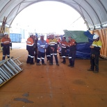 Workshop pipe processing bay crew CSBP job