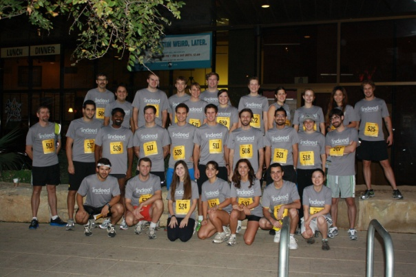Indeed running team at the 2012 Livestrong Challenge