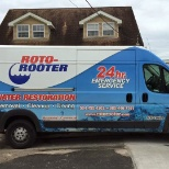 Roto-Rooter Plumbing & Drain Service photo: Working on a water cleanup job.