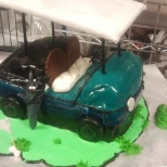 Golf cart, 100%  carved Ice cream