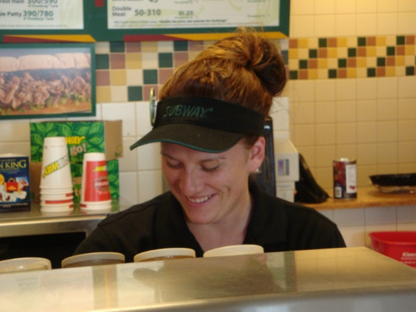 Enjoying a nice day at subway in 2011