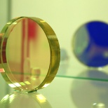 Leonardo DRS photo: A lens for a DRS thermal vision system is inspected.