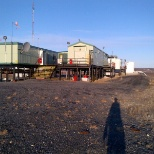 ConocoPhillips photo: Gas Plant North of Inuvik on pilings.