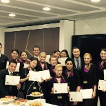 Business class training graduation