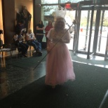 Glinda, the Good Witch at our Halloween Costume Contest