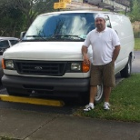 With my working van