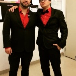My co-worker Josh and I unexpectedly matching.