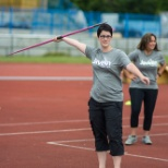 Javelin throw training session