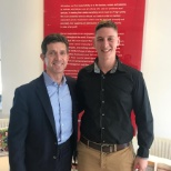 CEO- Alex Gorsky (Left), Intern-David Baker (Right)