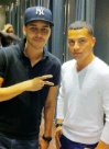 Hispanic Celebrity Prince Royce at Armani