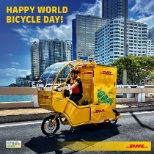 DHL photo: Happy World Bicycle Day!