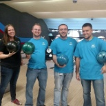 Midco employees participated in Brave Enough to Bowl to strike out childhood cancer!