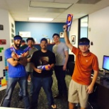 Office nerf gun battle to celebrate our Director of Engineering working here for 10 years