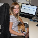Take your dog to work day, Taylor and Paco!