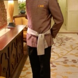 Mandarin Oriental Hotel Group photo: On duty as the Batler