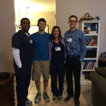 One of our heart patients with the team of nurses who performed CPR that saved his life!