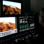 Warner Bros Entertainment Group photo: Color Grading RED Epic raw footage on the Pablo.