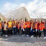 Staff at our Tenant Engagement day at Tayto park! 