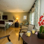 Patient room at Andrew and Eula Carlos Hospice Atlanta Center