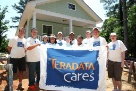 Teradata employees work with Habitat for Humanity to build this home for a deserving family.