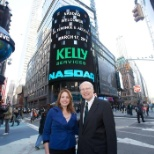 Kelly at the annual NASDAQ opening event