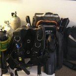 all my dive gear