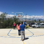 1-800 CONTACTS photo: Playing basketball during lunch.