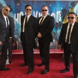 Security team as Men In Black for Hollywood themed event