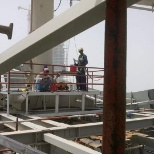 Fabrication and welding fitting for Tower building crane B2B building