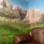 Wall in break room