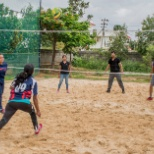 Volleyball practice for CGI Annual sports fest