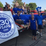 Manchester Plant employees participating in local parade