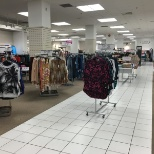 Clothing floor in Sears at the Halifax Shopping Centre