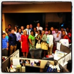 Shelby County Schools photo: Trojan TV News Team and Action News 5 News Team at WMC TV-5