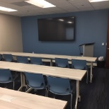 Classroom for professional development and training sessions