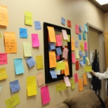 Notes posted in the lounge to show appreciation to our doctors for Doctor's Day