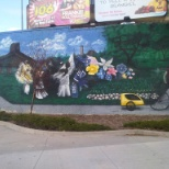 Mural at Main and Disreali ramp to bridge