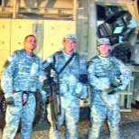 Me and my team before a mission, I'm on the left.