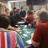 Rivers Casino photo: Applicants learning about the CCAC Dealer School and our Rivers Casino Dealer Scholarship program.