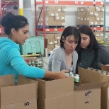 HirePower doing what they do at the Mississauga Food Bank!