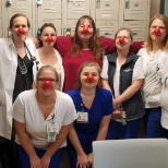 Chippenham Hospital photo: Celebrating Red Nose Day
