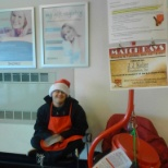 Both clients and staff supported the Salvation Army by ringing bells.